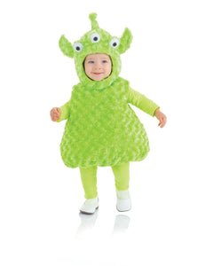 Belly Babies 3-Eyed Green Alien Costume Toddler M 18-24 Months