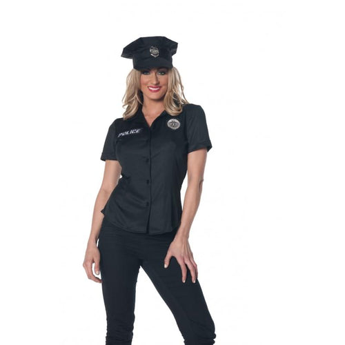 Police Adult Costume Fitted Shirt