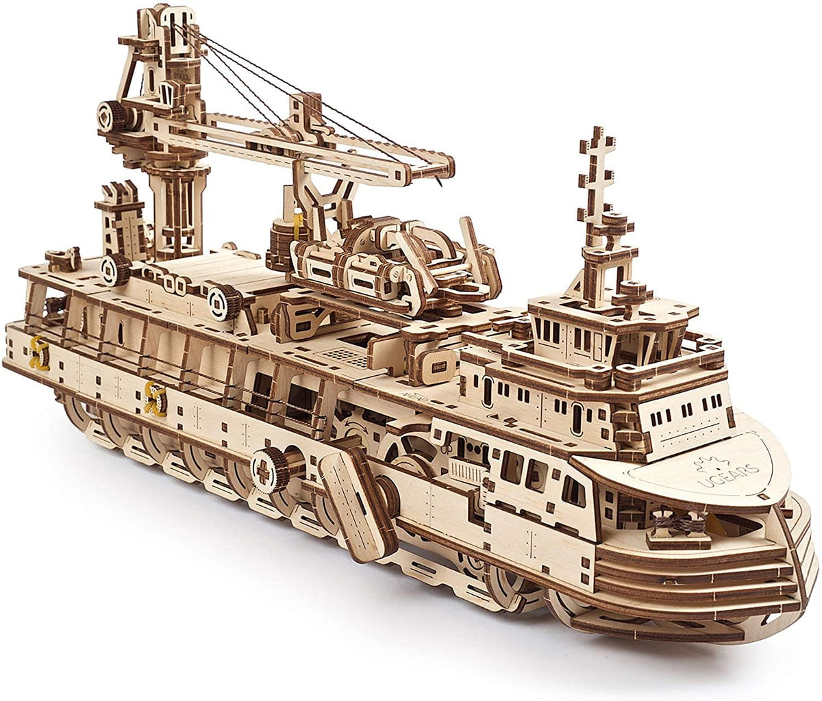 UGears Mechanical Models 3D Wooden Puzzle | Research Vessel