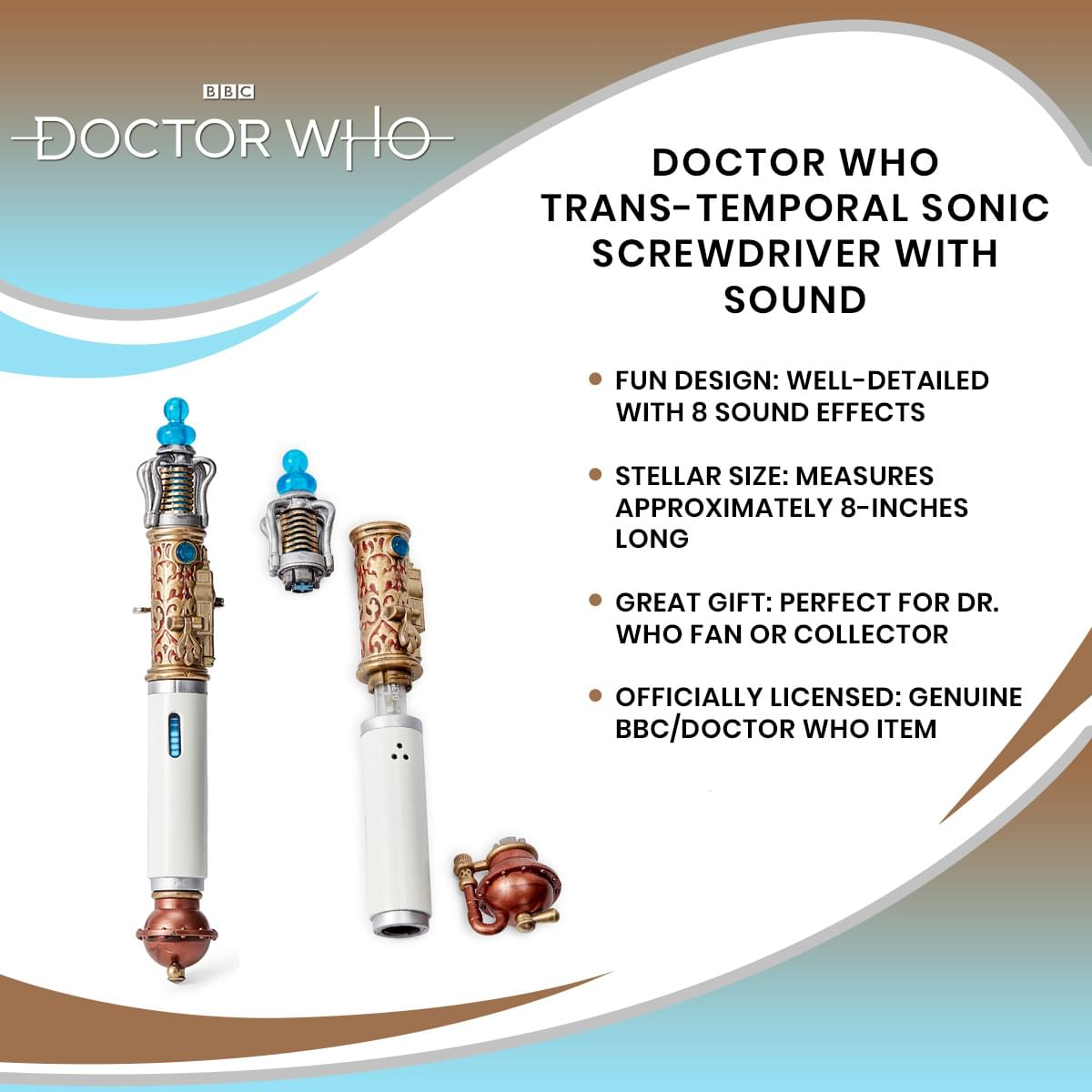 Doctor Who Trans-Temporal Sonic Screwdriver With Sound