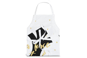 "Star Wars White Adult Apron - ""A Force To Be Reckoned With"" - Rebel Design"