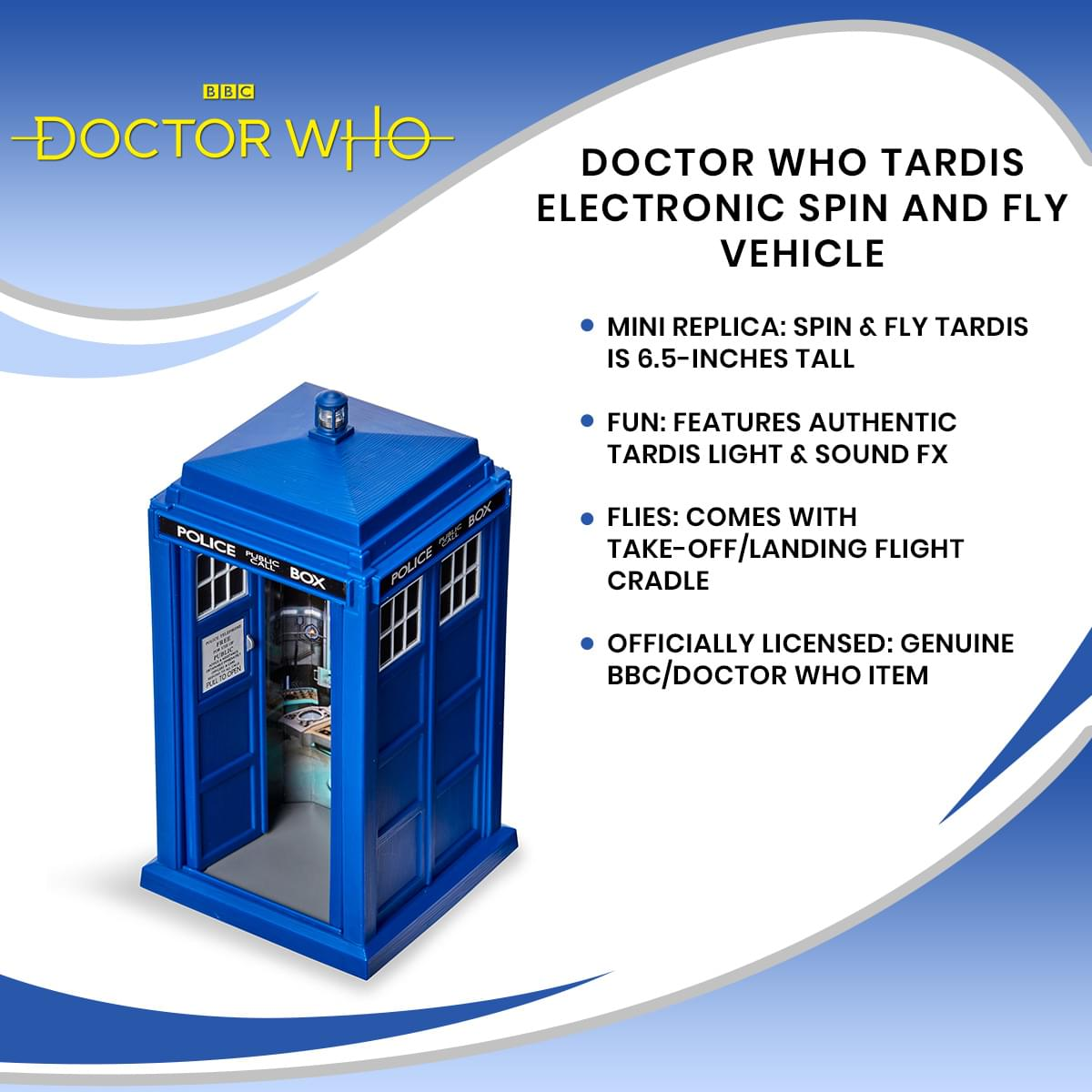 Doctor Who TARDIS Electronic Spin And Fly Vehicle