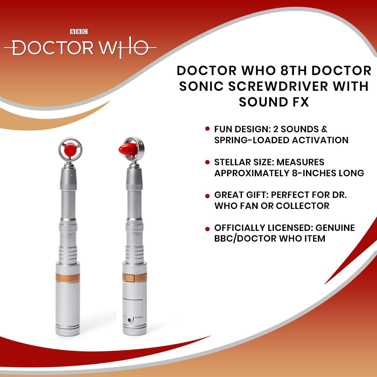 Doctor Who 8th Doctor Sonic Screwdriver With Sound FX