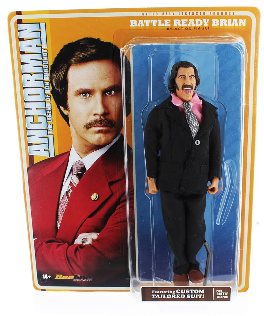 Anchorman 8-Inch Action Figures, Set of 3: Battle Ready Brick, Brian & Champ