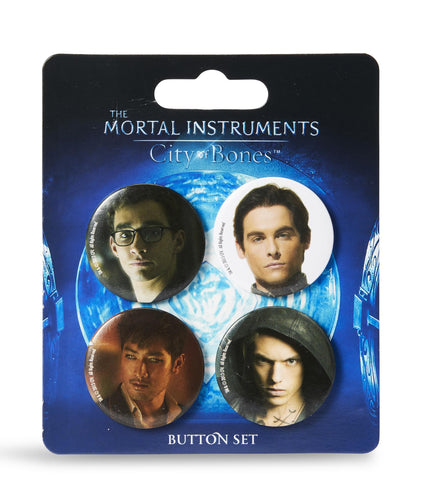 "The Mortal Instruments: City of Bones 1.5"" Button Set - 4-Piece"