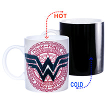 Load image into Gallery viewer, DC Comics Wonder Woman 11oz Heat Reveal Medallian Art Mug