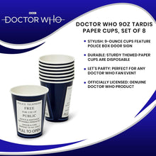 Load image into Gallery viewer, Doctor Who 9oz TARDIS Paper Cups, Set of 8