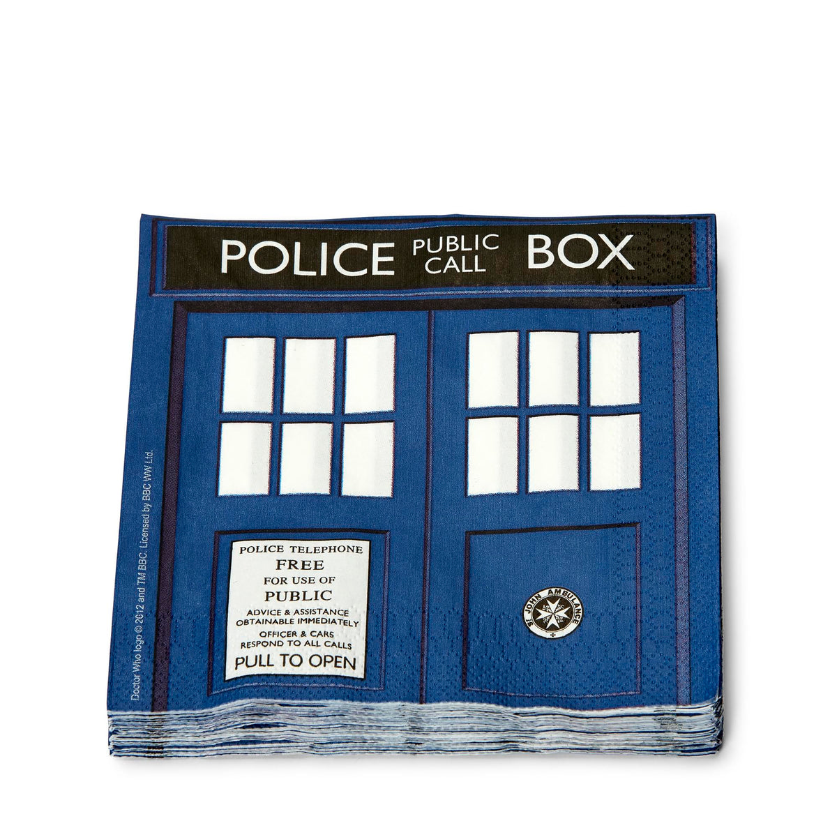 "Doctor Who 6.5"" TARDIS Paper Napkins, Set of 20"