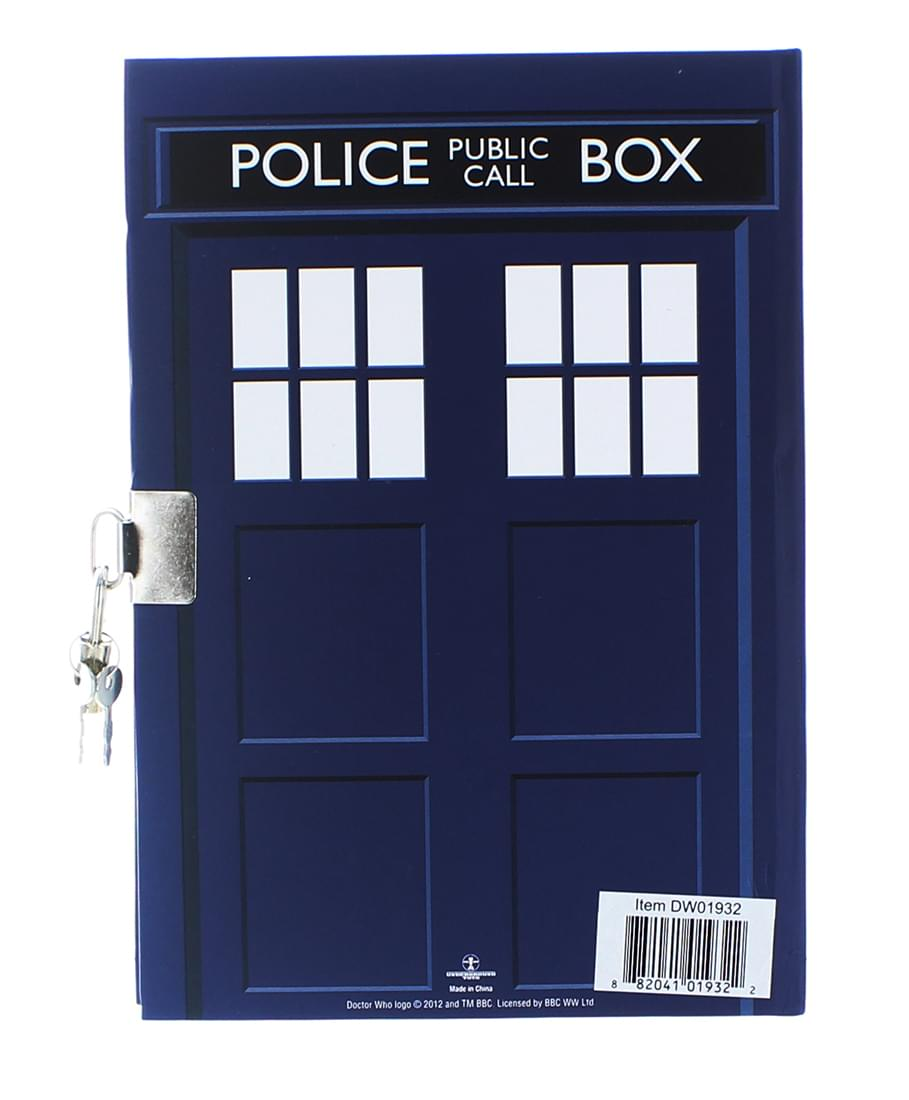 "Doctor Who TARDIS Lock and Key 6"" x 8.5"" Journal"
