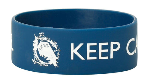 Doctor Who Rubber Wristband: Keep Calm and Time Travel