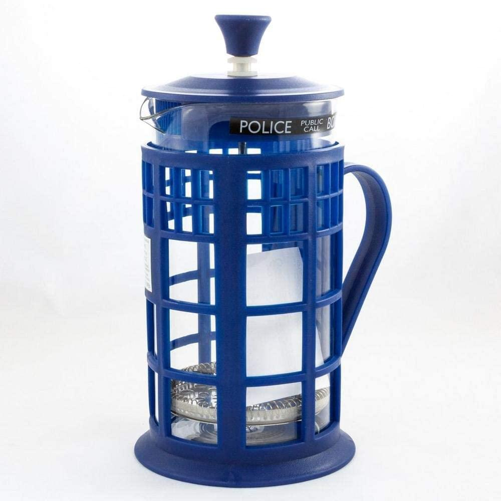 Doctor Who 34oz Tardis French Press | Glass Carafe | Plunger | Filter