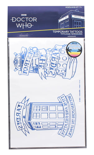 Doctor Who Steampunk TARDIS Temporary Tattoo Sheet