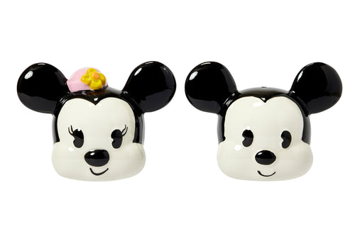 Disney Mickey Mouse & Minnie Mouse Salt & Pepper Shaker Set | Ceramic Shakers