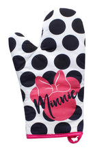 Load image into Gallery viewer, Disney Minnie Mouse Polka Dot Geo Glam Oven Mitt