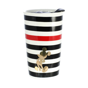 Disney Mickey Mouse Geo Glam Silouhette 10oz Ceramic Travel Mug with Lid