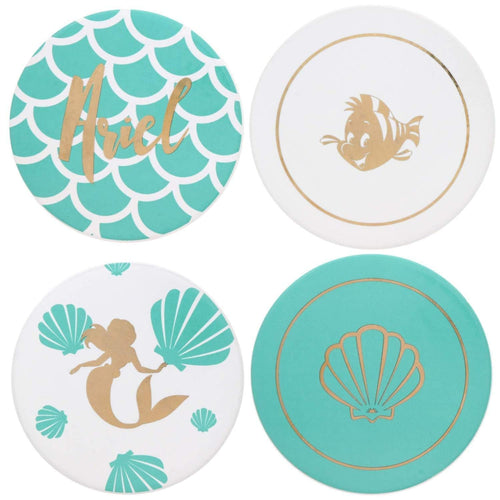 Disney The Little Mermaid 4 Piece Ceramic Coaster Set