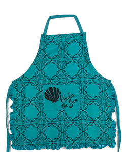 Disney The Little Mermaid Ariel Teal Scallop Kitchen Apron