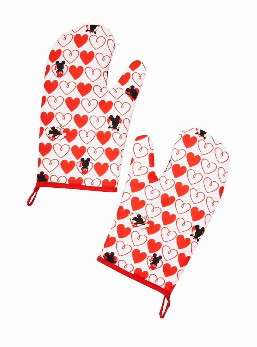 Disney Mickey Mouse Red Heart Series Oven Mitts | 2 Pack