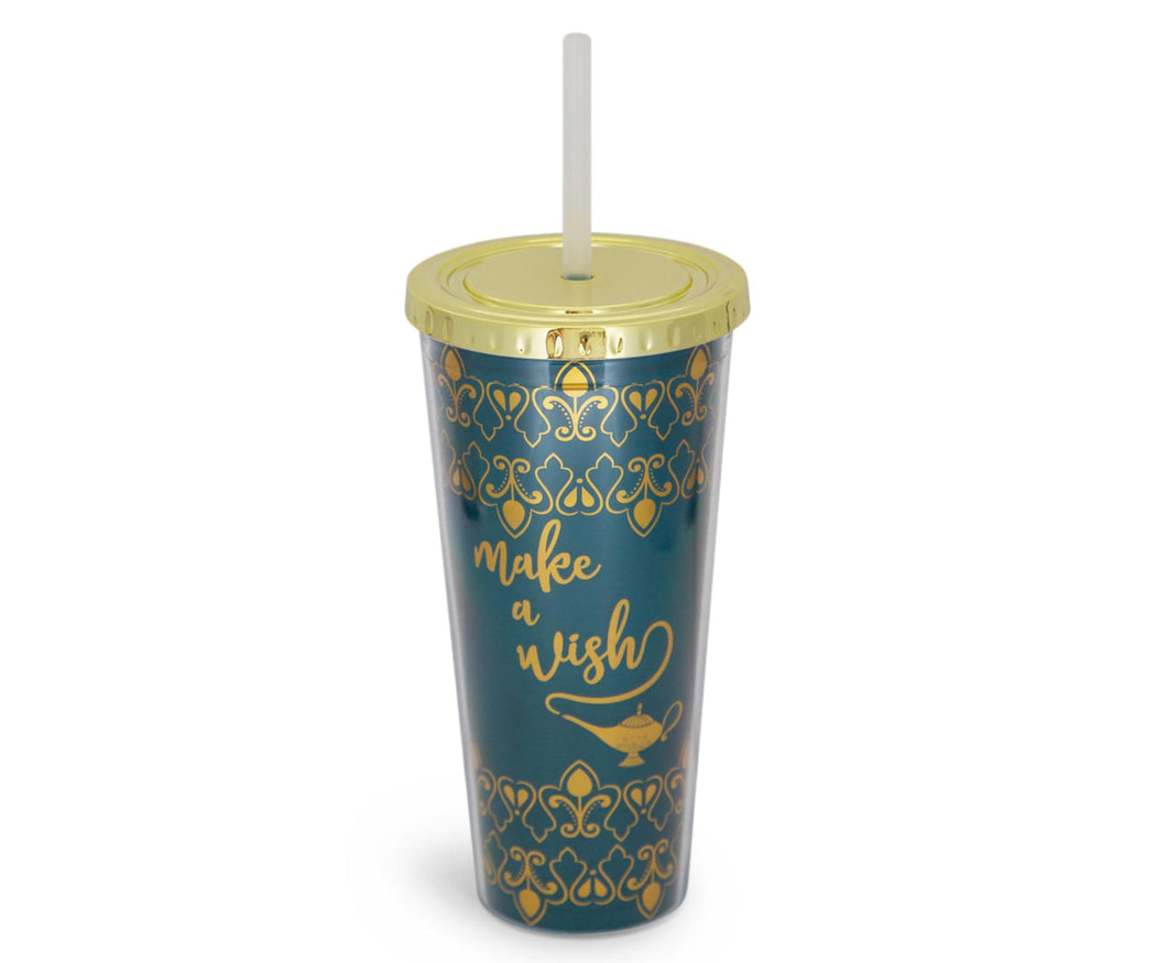 Disney Aladdin Make A Wish 16oz PVC Tumbler w/ Lid and Straw