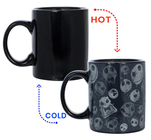 Nightmare Before Christmas Jack Skellington Head 11oz Heat Reveal Mug