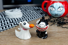 Load image into Gallery viewer, Nightmare Before Christmas Scary Teddy & Zero Ceramic Salt & Pepper Shakers