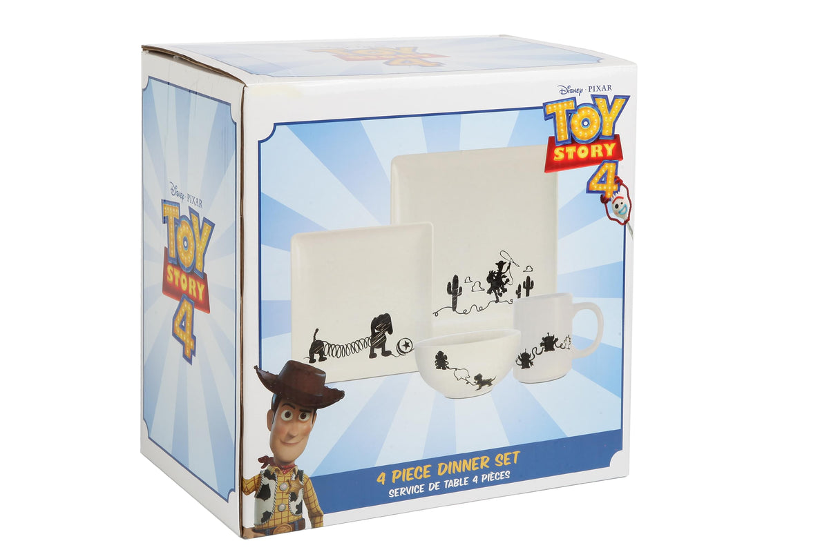Toy Story 4-Piece Ceramic Dinnerware Set With Scribble Characters
