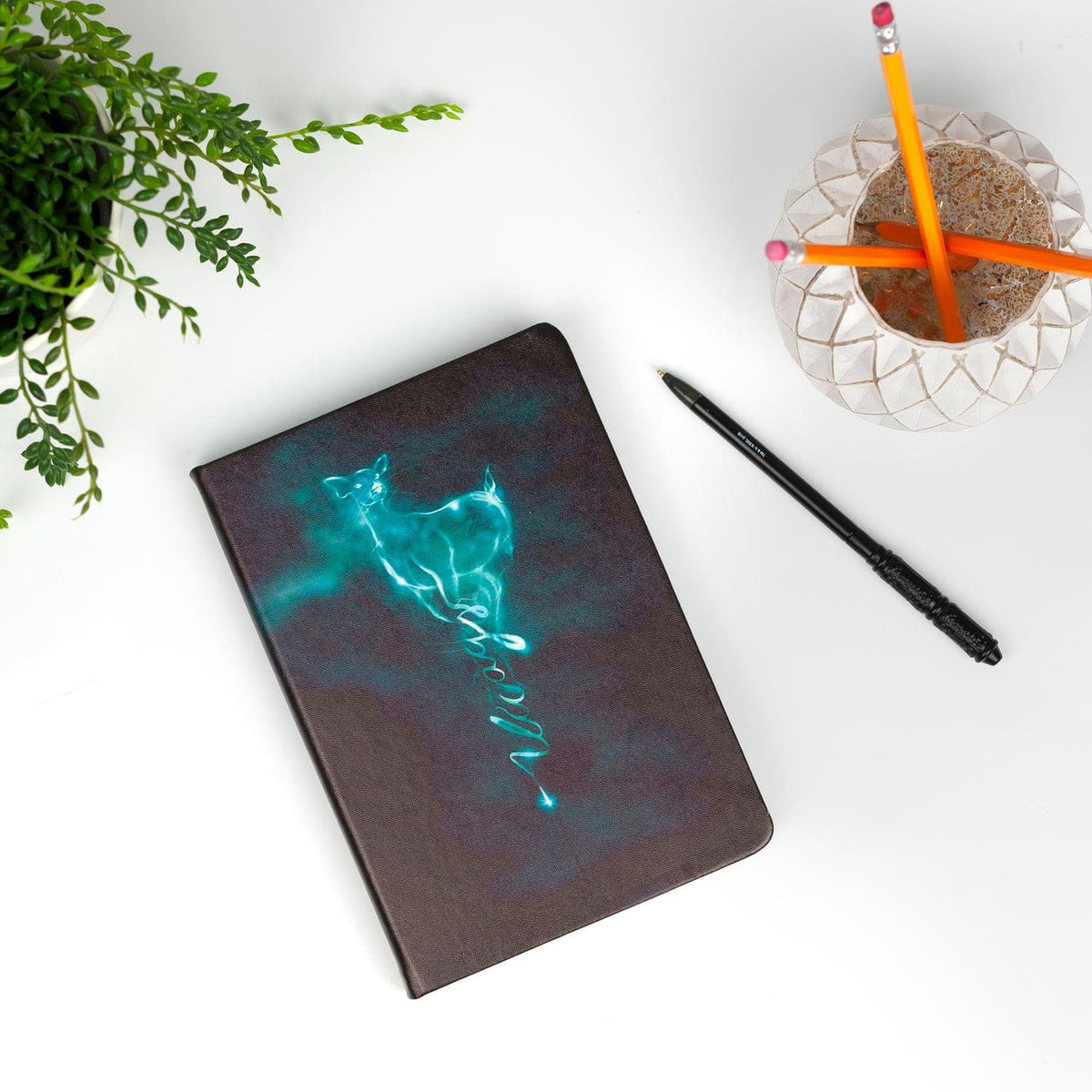 Harry Potter Severus Snape Patronus Notebook & Wand Pen Set | 192 Blank Pages