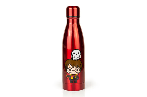 Harry Potter & Hedwig Chibi Characters Aluminum Water Bottle | Holds 17 Ounces