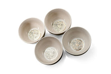 Load image into Gallery viewer, Harry Potter Hogwarts Emblem White & Grey Ceramic Bowl Collection | Set of 4