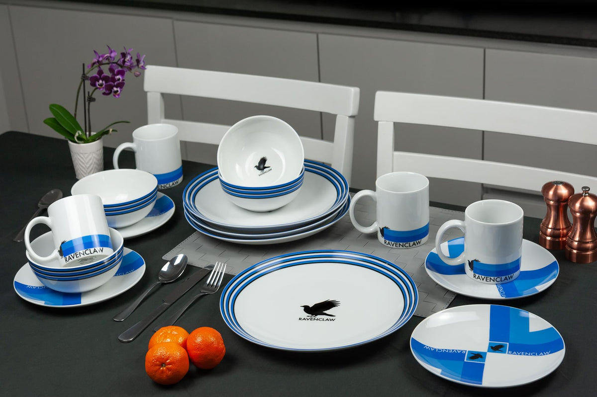 Harry Potter Ravenclaw 16-Piece Porcelain Dinnerware Set | Plates, Bowls & Mugs
