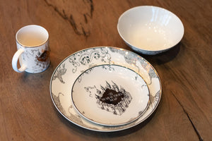 Harry Potter Marauder's Map 4-Piece Porcelain Place Setting Set