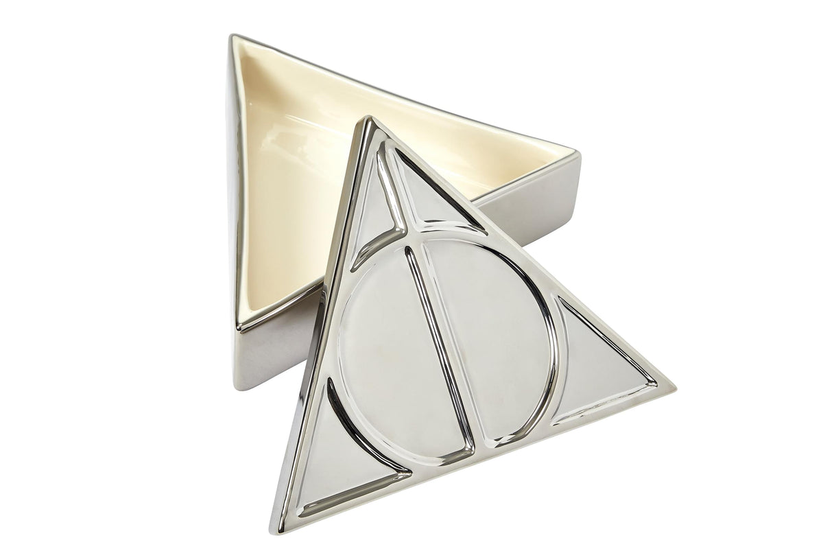 Harry Potter Deathly Hallows Symbol Silver Storage Box | 7.5 x 6.5 Inches