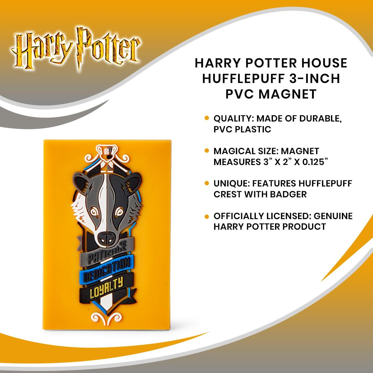 Harry Potter House Hufflepuff 3-Inch PVC Magnet