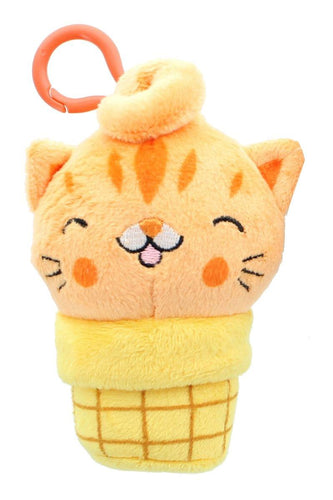 Kitty Cone Clip Sherburt 5 inch Plush Backpack Clip