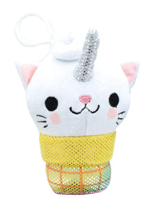 Kitty Cone Clip Uma The Unicorn 5 inch Plush Backpack Clip