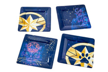 Load image into Gallery viewer, Marvel's Captain Marvel Celestial Goose 4-Piece Melamine Plate Set