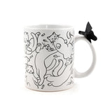 Because Cats Coffee Mug | Ceramic Coffee Cup Cat Owners | Holds 11 Ounces