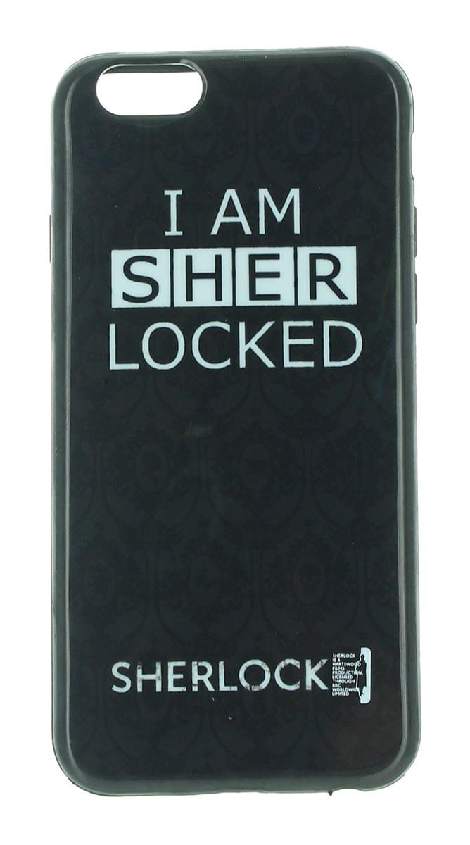 Sherlock iPhone 6 Hard Snap Case: I Am Sher Locked, Black