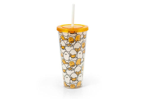 Sanrio's Gudetama 20 Oz Insulated Tumbler With Lid & Straw