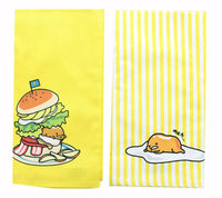 OFFICIAL Gudetama Lazy Egg Cute Dish Towels | Perfect Kitchen Accents | Set of 2