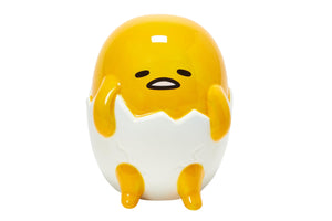 Gudetama The Lazy Egg Ceramic Coin Bank | Gudetama Collectible | 6 Inches Tall