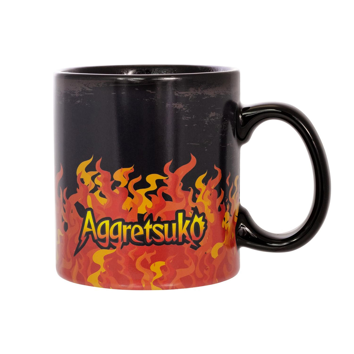 Aggretsuko Heat Reveal Fire & Skulls 20oz Ceramic Coffee Mug