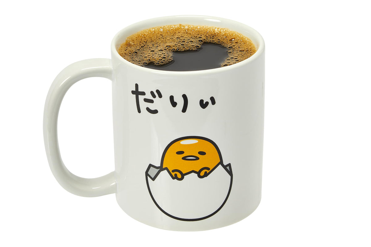 Gudetama Sitting In Eggshell 20-Oz Ceramic Mug