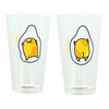 Gudetama the Lazy Egg 16oz Pint Glass Set of 2