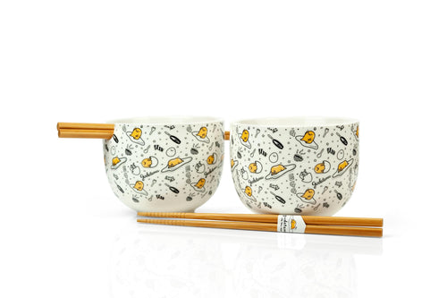 Gudetama Bowl & Chopstick Set | Ceramic