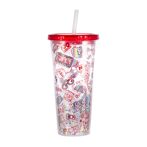 Hello Kitty Doodles 22oz Carnival Cup with Straw & Lid