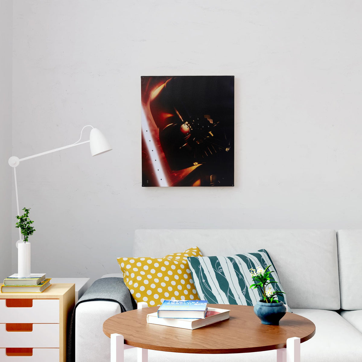 "Star Wars Illuminated Canvas Art - 23.9""x19.9"" - Darth Vader"