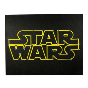 Star Wars Logo Light Up 16 x 20 Inch Black Wall Canvas