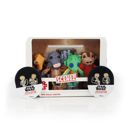 Star Wars Exclusive Mos Eisley's Cantina Villains Plush & Enamel Pin Set
