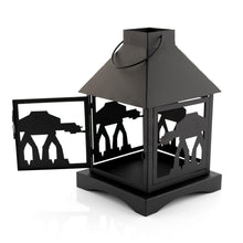 Load image into Gallery viewer, Star Wars Black Stamped Lantern | Imperial AT-AT Walker | 12 Inches Tall